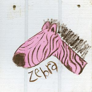 Happy Pink Zebra by Erin Butson