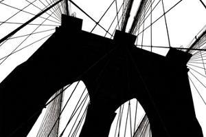 Brooklyn Bridge Silhouette by Erin Clark
