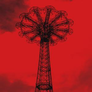Red Parachute Jump by Erin Clark