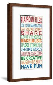 Playroom Rules by Erin Deranja
