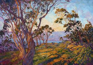 La Jolla Eucalyptus by Erin Hanson