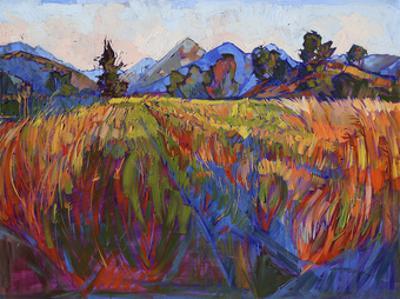 Scarlet Grass in Triptych (center) by Erin Hanson