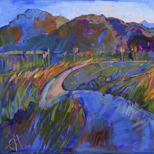 Scarlet Grass in Triptych (left) by Erin Hanson