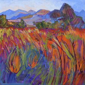 Scarlet Grass in Triptych (right) by Erin Hanson