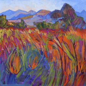 Scarlet Grass in Triptych (right) by Erin Hanson