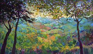Vineyard View by Erin Hanson