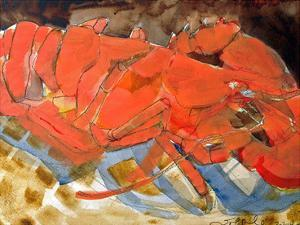 Abstract Lobster III by Erin McGee Ferrell