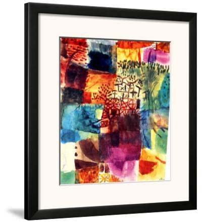 Erinnerung an einen Gart, 1914-Paul Klee-Framed Art Print