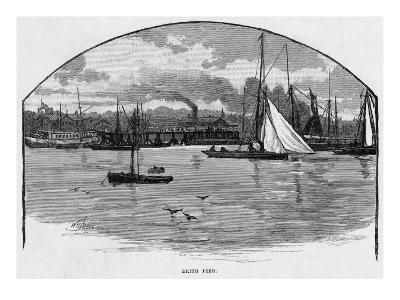 Erith, Kent, Seen from the Thames--Giclee Print