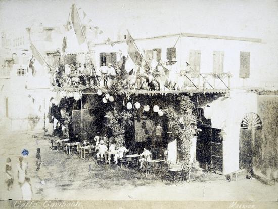Eritrea, Massawa, Caffe Garibaldi, Italian Officers Meeting--Giclee Print