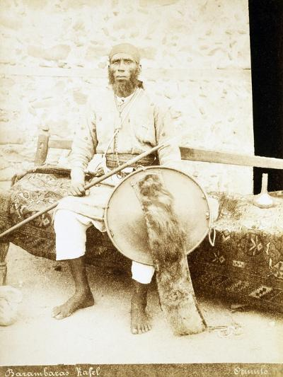 Eritrea, Otmulo, Portrait of Chief Barambaras Kafel Photographed with Shield and Spear--Giclee Print