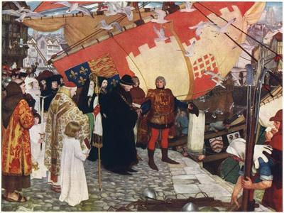 The Departure of John and Sebastian Cabot from Bristol in 1497, C1900-1930