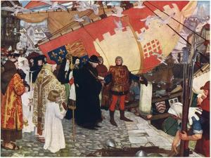 The Departure of John and Sebastian Cabot from Bristol in 1497, C1900-1930 by Ernest Board