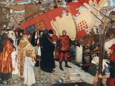 The Departure of John and Sebastian Cabot from Bristol on their First Voyage of Discovery, 1497
