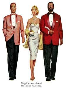 """No Man for Nancy, Part 2 - Saturday Evening Post """"Leading Ladies"""", January 7, 1956 pg.33 by Ernest Chiriaka"""