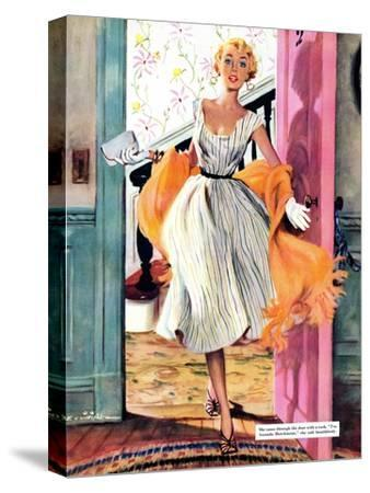 """The Lady's Future - Saturday Evening Post """"Leading Ladies"""", February 6, 1954 pg.34"""