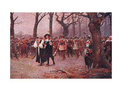 Charles I Escorted to His Execution