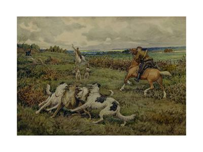Hunting with Borzois, 1937