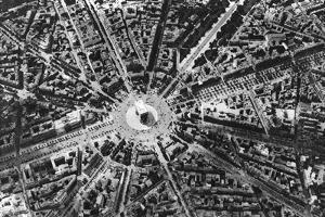 A Bird's Eye View of the Place De L'Etoile and the Arc De Triomphe, Paris, 1931 by Ernest Flammarion