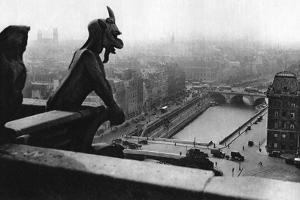 The River Seine Seen from a Tower of Notre Dame, Paris, 1931 by Ernest Flammarion