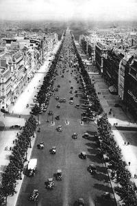 View of the Avenue Des Champs Elysees, Paris, 1931 by Ernest Flammarion