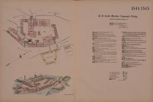 H.B. Smith Machine Company's Works, Smithville, Burlington, NJ, Hexamer General Survey, 1881 by Ernest Hexamer