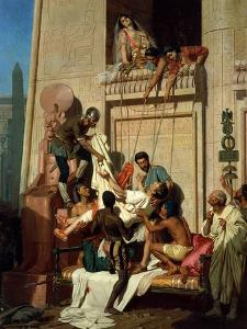 Mark Antony Brought Dying to Cleopatra VII, Queen of Egypt by Ernest Hillemacher