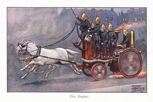 Fire Engine by Ernest Ibbetson