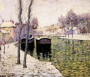 Barges on the Seine, 1894 by Ernest Lawson