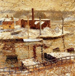 River Scene in Winter, C.1899 by Ernest Lawson
