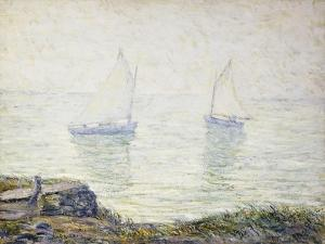 Sailboats by Ernest Lawson