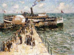 The Excursion Boat by Ernest Lawson