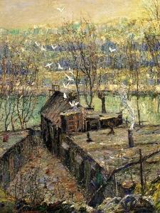 The Pigeon Coop, C.1916 by Ernest Lawson