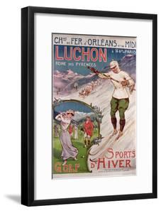 Poster Advertising the Resort of 'Luchon' with the 'Chemins de Fer d'Orleans', 1908 by Ernest Louis Lessieux
