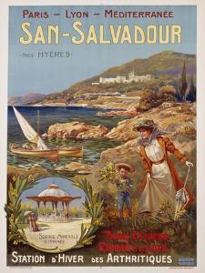 San-Salvadour Poster by Ernest Louis Lessieux