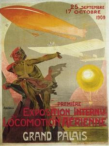 The First Salon De La Locomotion Aérienne, 1909 by Ernest Montaut
