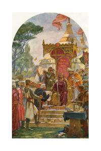 King John Granting the Magna Carta at Runnymede by Ernest Normand