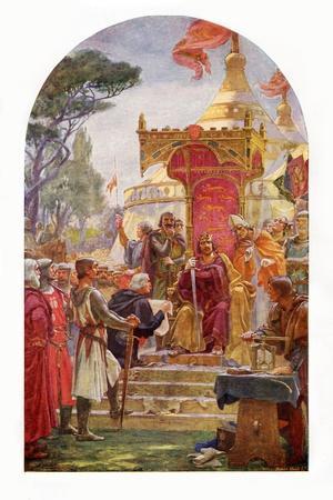 King John granting the Magna Carta