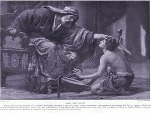 Saul and David by Ernest Normand