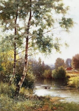 Landscape near Sonning on Thames, England by Ernest Parton
