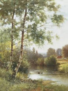 Landscape near Sonning on Thames by Ernest Parton