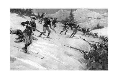 Charge of French Alpine Chasseurs in Alsace, WW1
