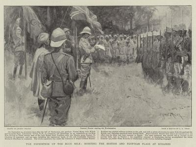 The Expedition Up the Blue Nile, Hoisting the British and Egyptian Flags at Rosaires