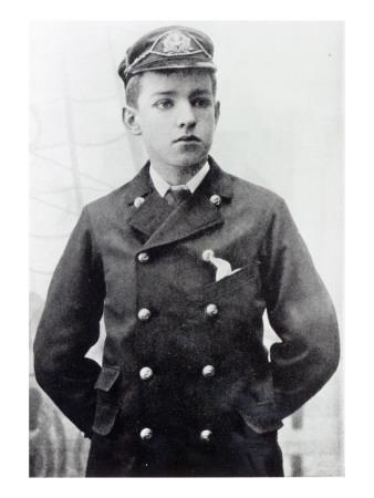 Track His Phone >> Ernest Shackleton, Aged 16, Wearing His White Star Line Uniform, 1890 Giclee Print by English ...