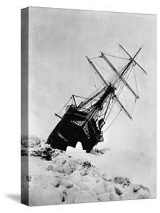Ernest Shackleton's Expedition Ship Endurance Trapped in Ice