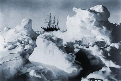 Ernest Shackleton's Ship, Endurance, in Weddell Sea Pack Ice in Antarctica, 1916
