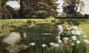 The Garden, Sutton Place, Surrey, England by Ernest Spence