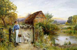 Bringing Home the Sheep by Ernest Walbourn