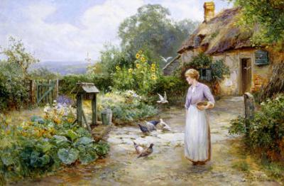 Feeding the Doves by Ernest Walbourn