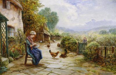 Peeling Potatoes by Ernest Walbourn